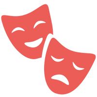 deux masques roses