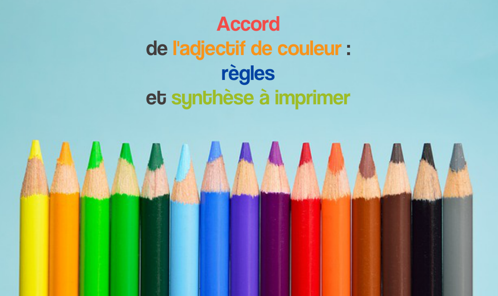 accord de l'adjectif de couleur