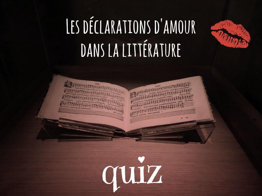 quiz déclaration amour littérature
