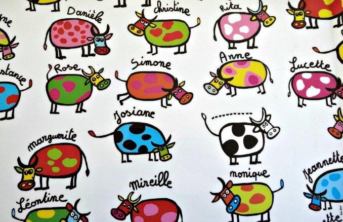 petites vaches colorées